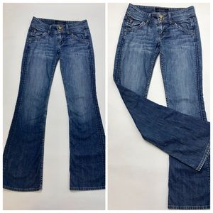 Hudson Bootcut flap pocket Jeans in BAE